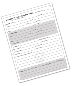 ERA Warranty/Defect Form