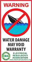 Water Damage Label