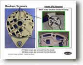 delco-remy 22si - how to remove broken screws from housings